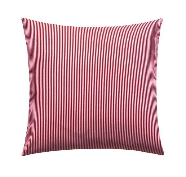 Desoto Lipstick Red Pinstripe Pillow - Land of Pillows