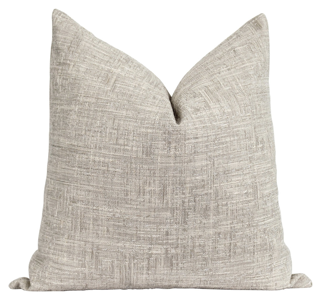 Durham Woven Solid Beige Pillow - Land of Pillows