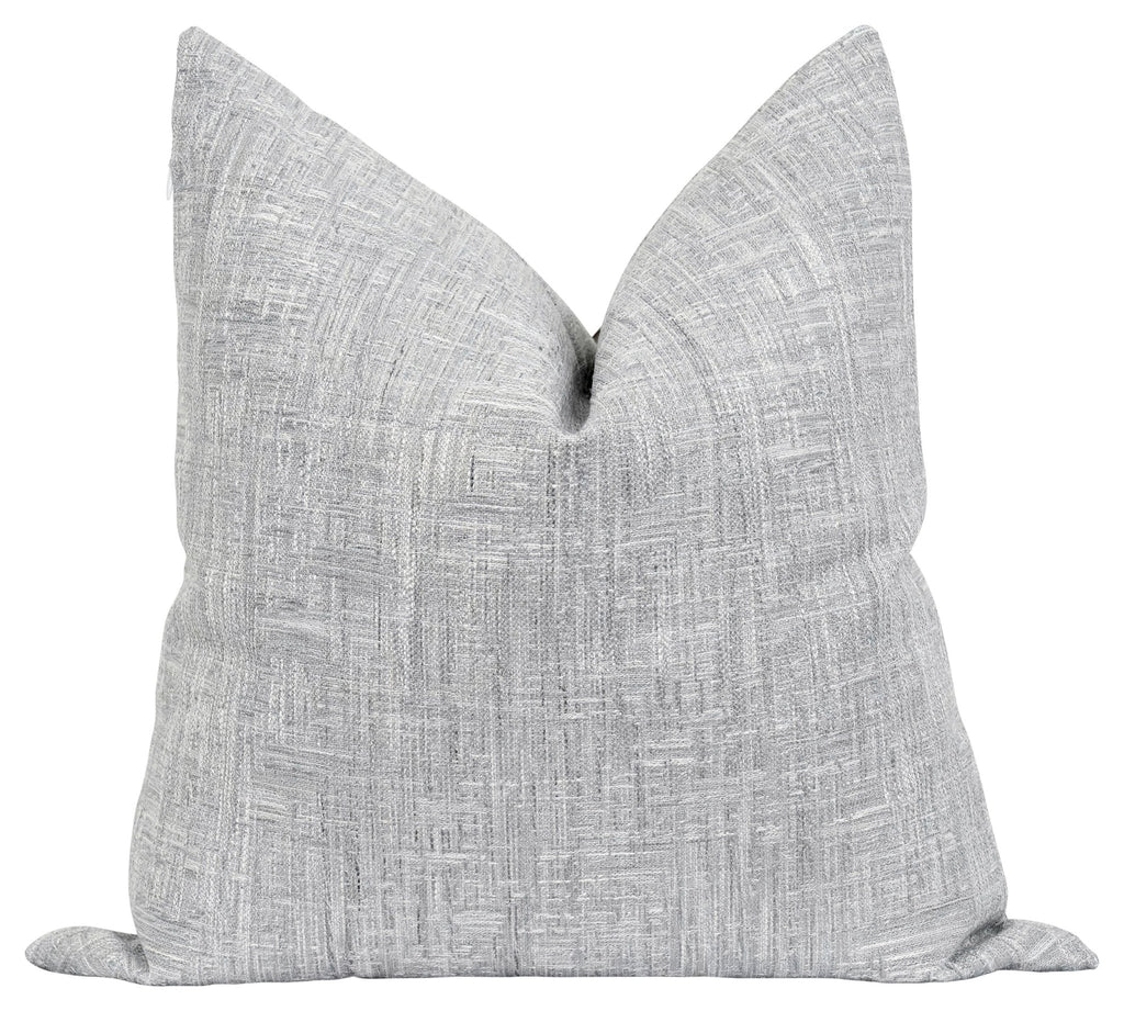 Durham Woven Solid Grey Pillow - Land of Pillows