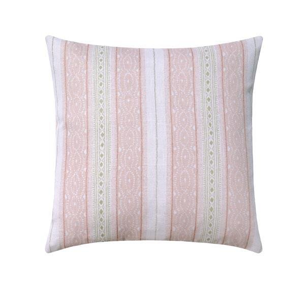 Dusty Rose Pink Stripe Linen Pillow - Land of Pillows