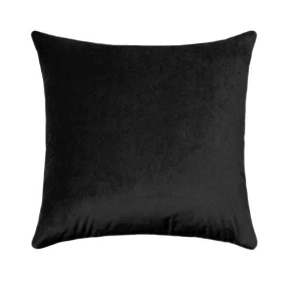 Ebony Black Velvet Pillow - Land of Pillows