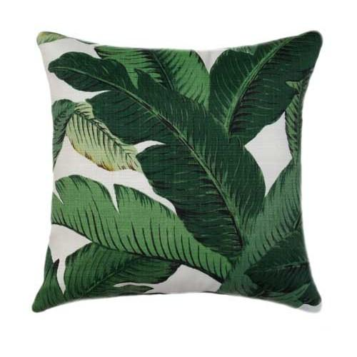 Emerald Green Outdoor Palm Banana Leaf Pillow - Land of Pillows