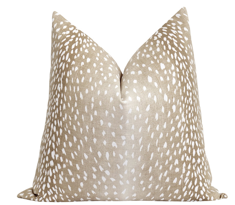 Hillsboro Ice Blue Linen Leopard Print Pillow
