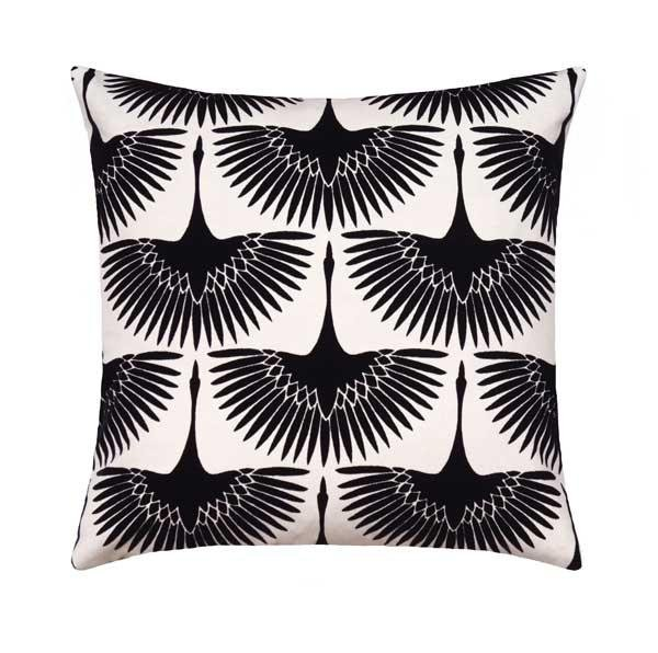Charcoal Grey Diamond Mudcloth Print Pillow