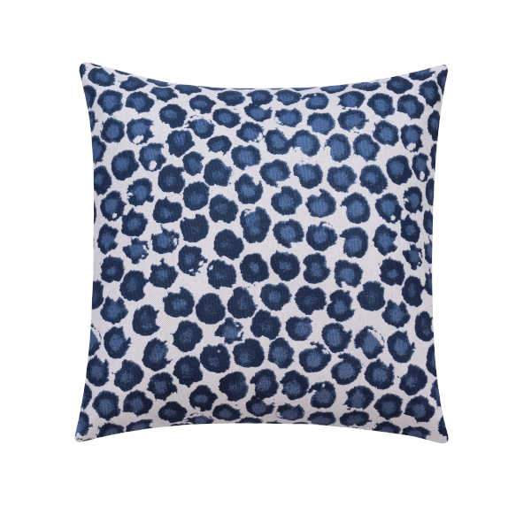 Freedom Dots Prussian Blue Polka Dot Pillow - Land of Pillows