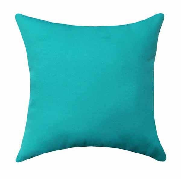 Fresco Atlantis Solid Turquoise Outdoor Pillow - Land of Pillows