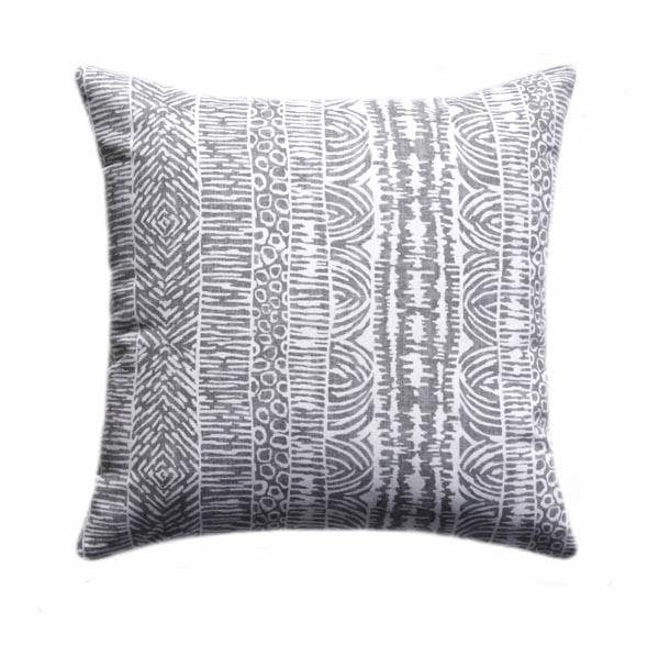 Global Lines Greystone Rain Lines Stripe Pillow - Land of Pillows