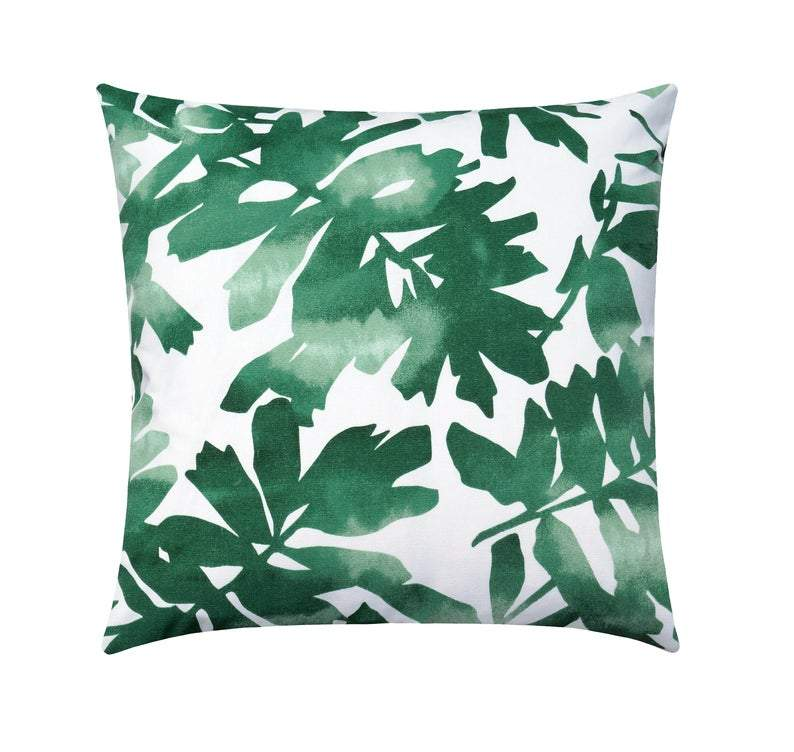 Green Tropical Palm Leaf Cut Out Pillow - Land of Pillows