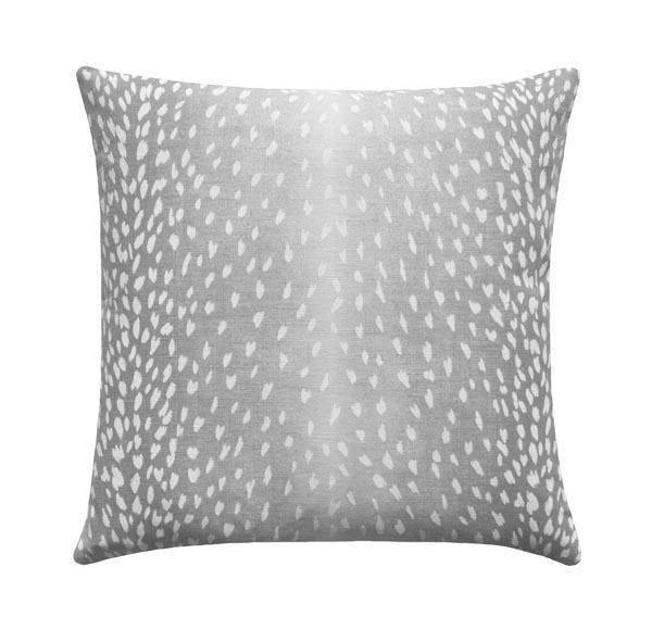 Grey Antelope Linen Fawn Deer Print Pillow - Land of Pillows