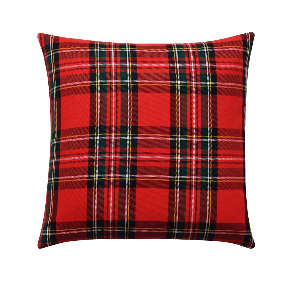 Holiday Red Tartan Plaid Pillow - Land of Pillows