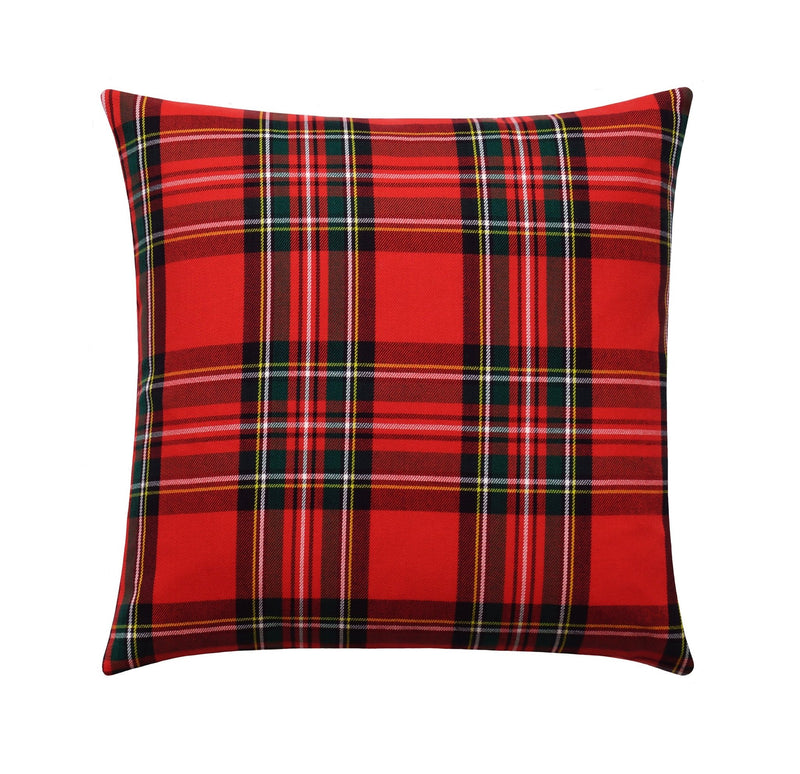 Yorktown Blue Spruce Plaid Pillow