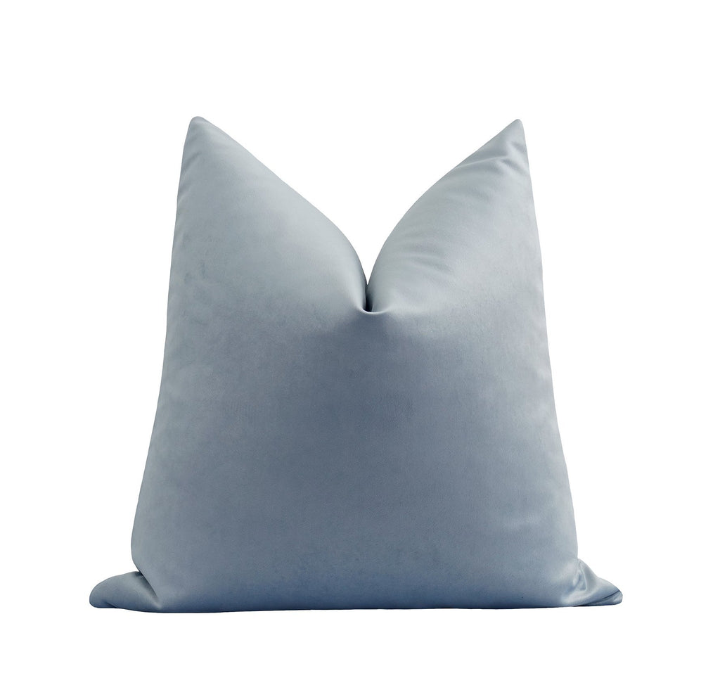 Ice Blue Velvet Pillow - Land of Pillows