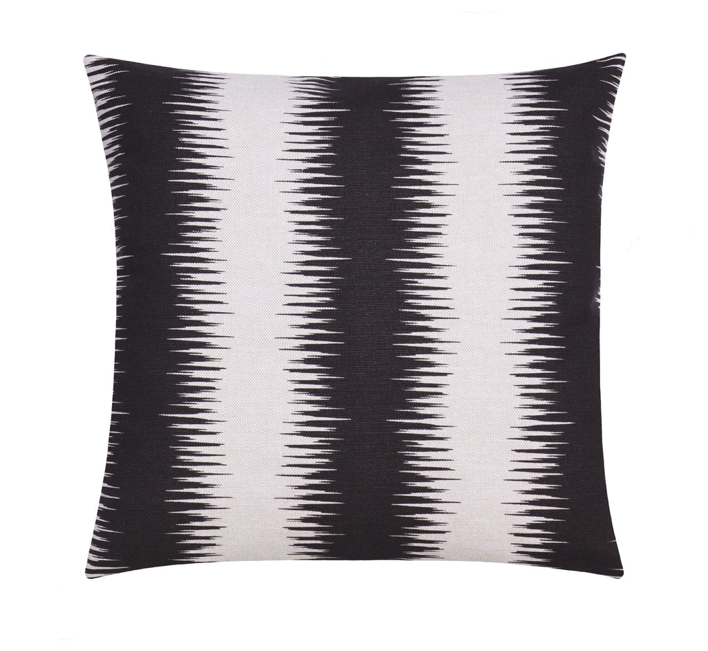 Jiri Black Flax Modern Throw Pillow - Land of Pillows