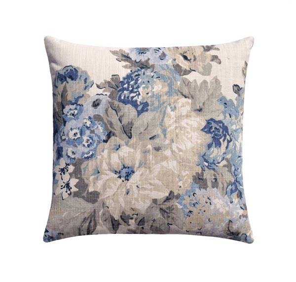 Juliet Bluebell Blue Floral Pillow - Land of Pillows