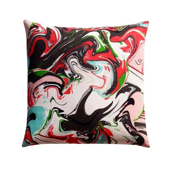 Kate Spade Marble Swirl Multi Linen Abstract Pillow - Land of Pillows