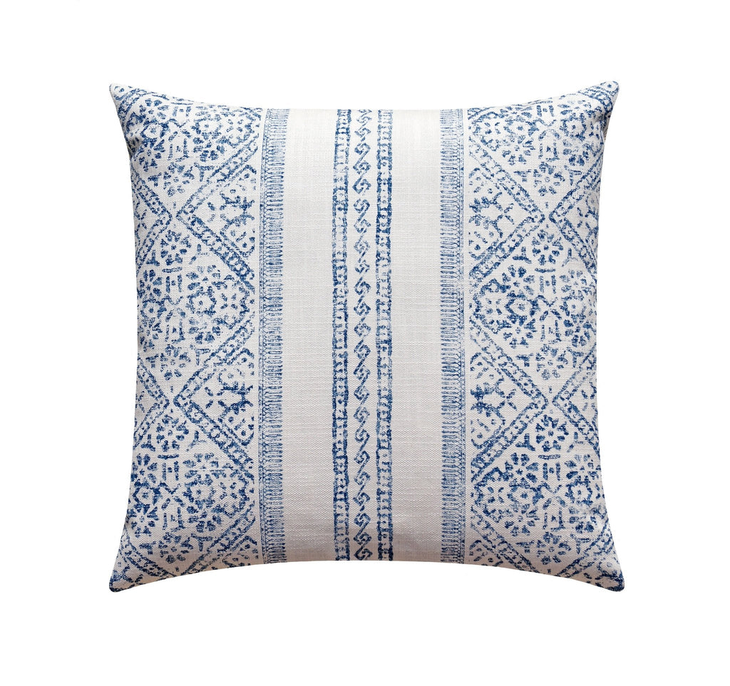 La Jolla Indigo Blue Bohemian Stripe Pillow - Land of Pillows