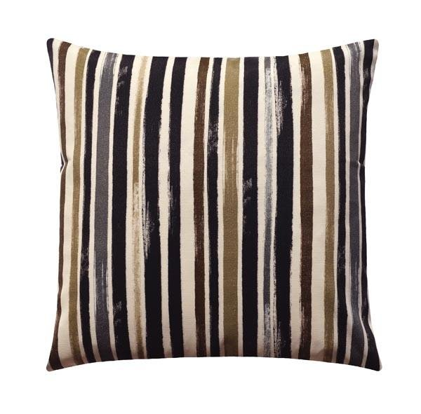 Longboard Caviar Earth Tone Stripe Outdoor Pillow - Land of Pillows