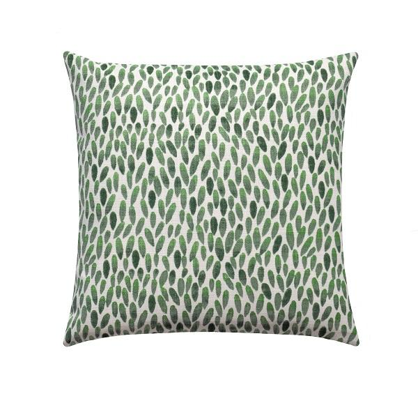 Lotus Mirage Green Teardrop Outdoor Pillow - Land of Pillows