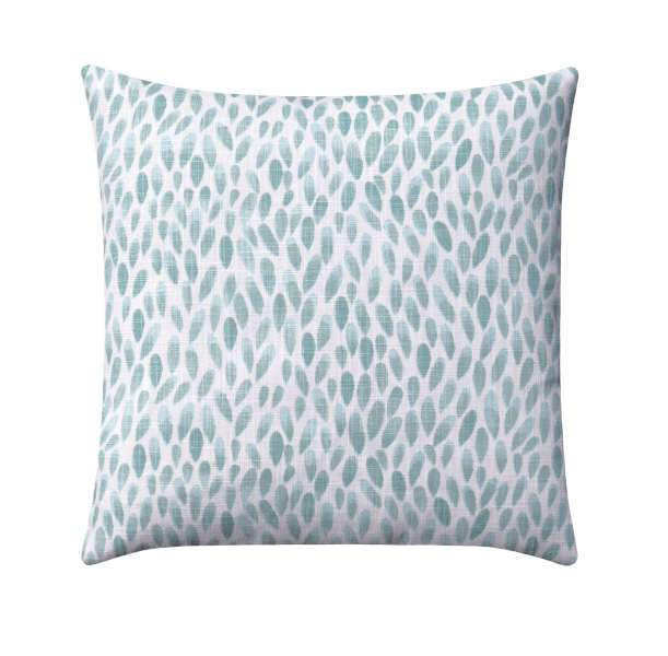 Blue and Grey Linen Floral Pillow
