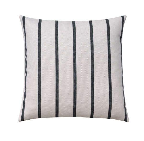 Miles Ink Black Flax Stripe Pillow - Land of Pillows