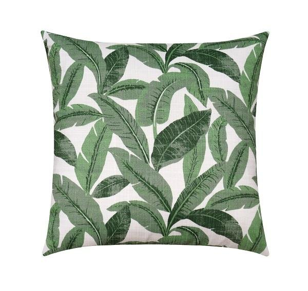 Mirage Jungle Green Outdoor Palm Banana Leaf Pillow - Land of Pillows