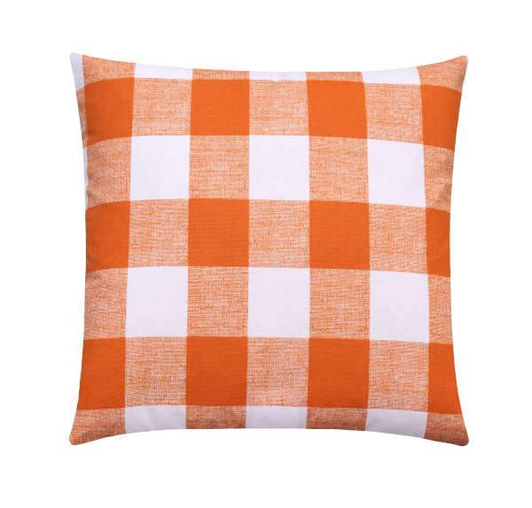 Monarch Orange Buffalo Check Plaid Pillow - Land of Pillows