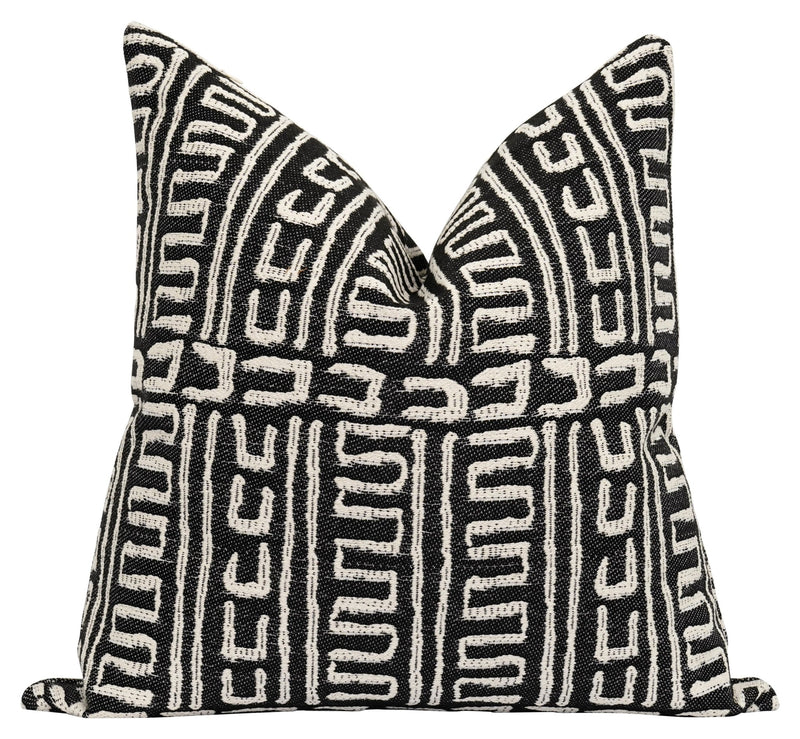 Mozinda Woven Washed Black Boho Pillow - Land of Pillows