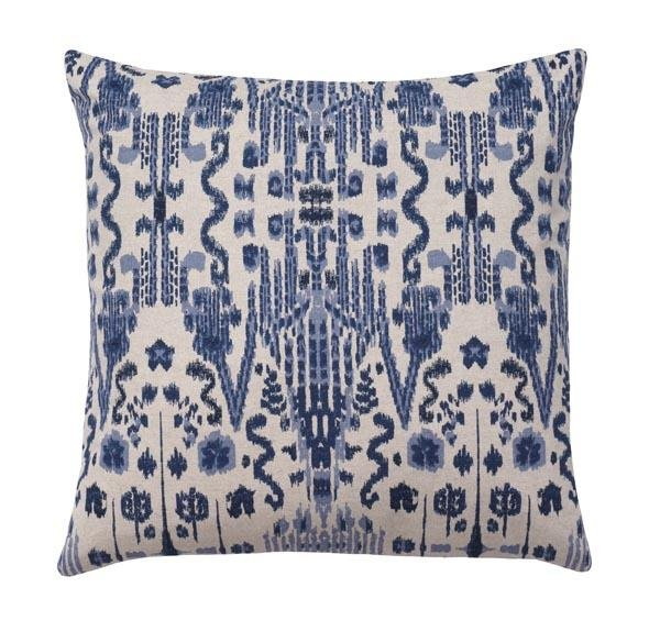 Mumbai Indigo Ikat Pillow - Land of Pillows