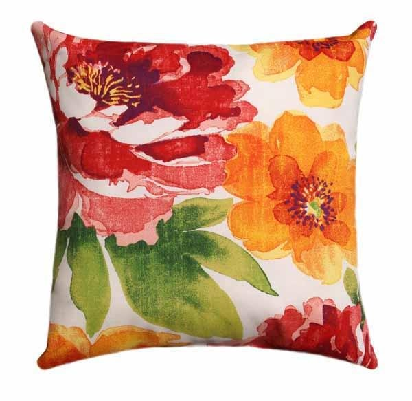 Muree Primerose Multi Colored Floral Outdoor Pillow - Land of Pillows