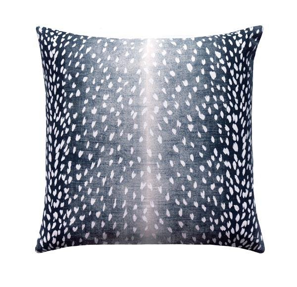 Venus Charcoal Grey Floral Pillow