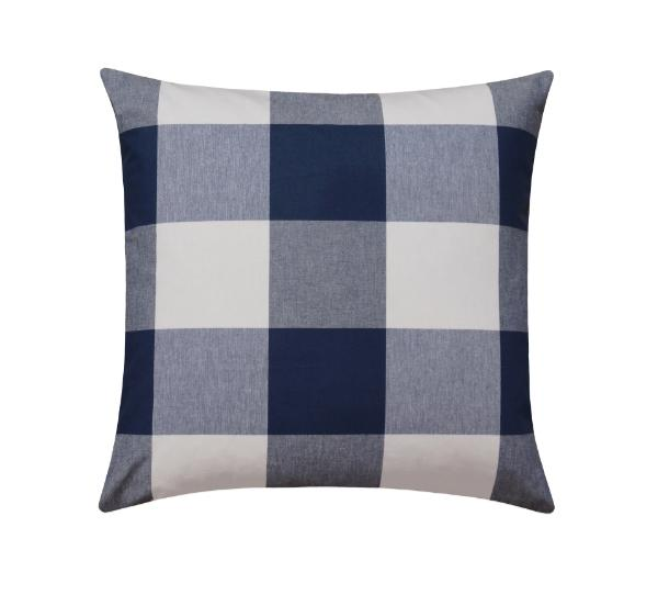 Navy Blue Large Buffalo Check Plaid Print Pillow - Land of Pillows