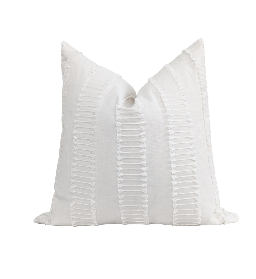 Off White Fringe Tassel Pillow - Land of Pillows