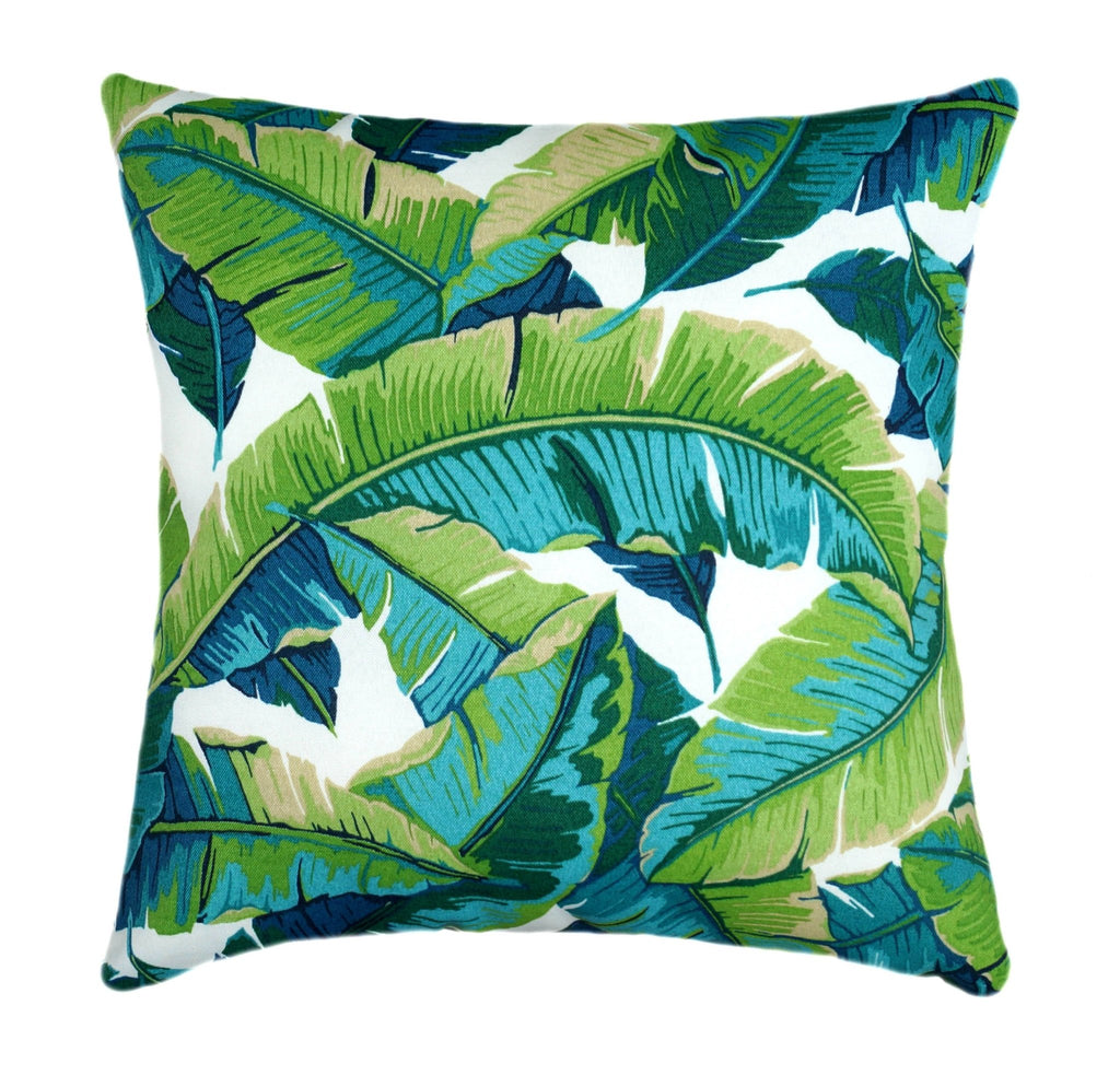 Opal Outdoor Green Banana Leaf Pillow - Land of Pillows
