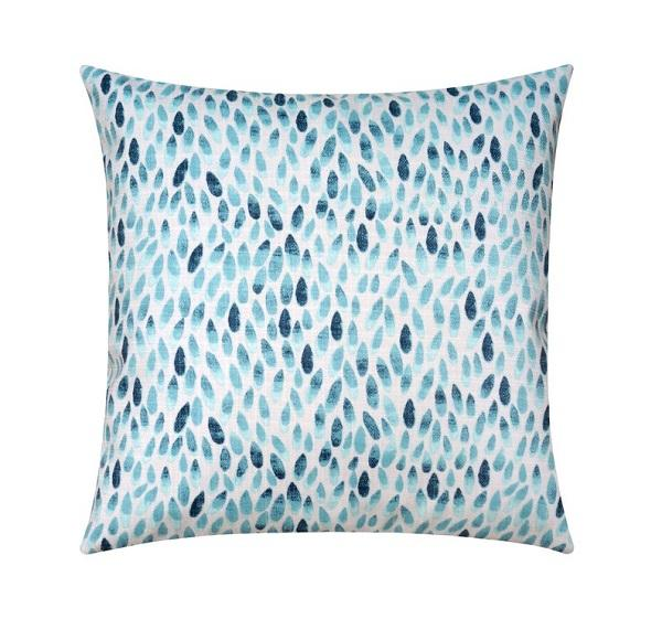Oxford Navy and Ocean Blue Teardrop Outdoor Pillow - Land of Pillows