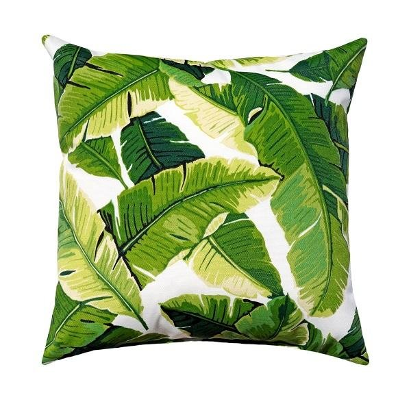 Palm Green Outdoor Banana Leaf Pillow - Land of Pillows