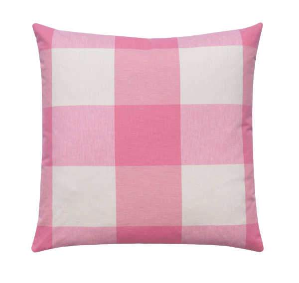 Petal Pink Buffalo Check Pillow - Land of Pillows
