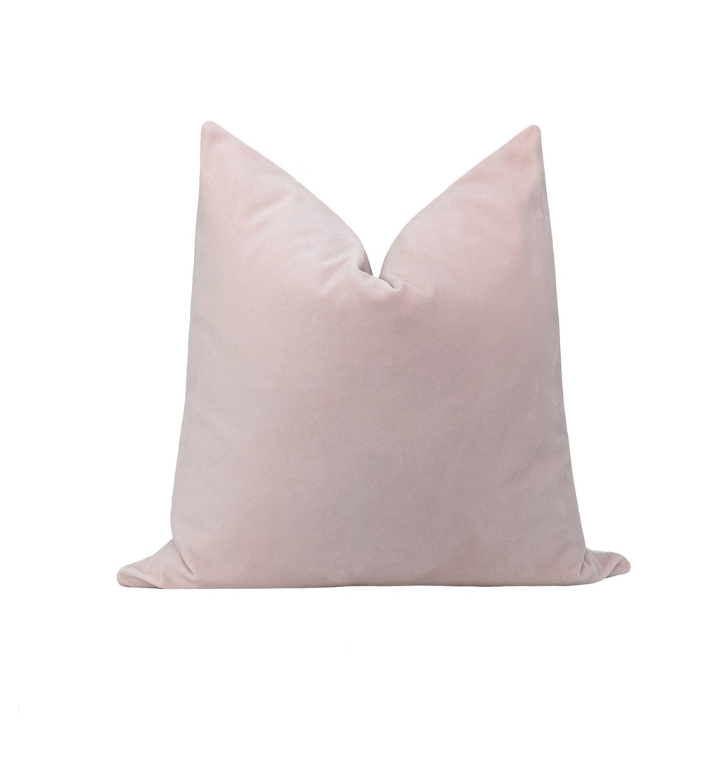 Powder Pink Velvet Pillow - Land of Pillows