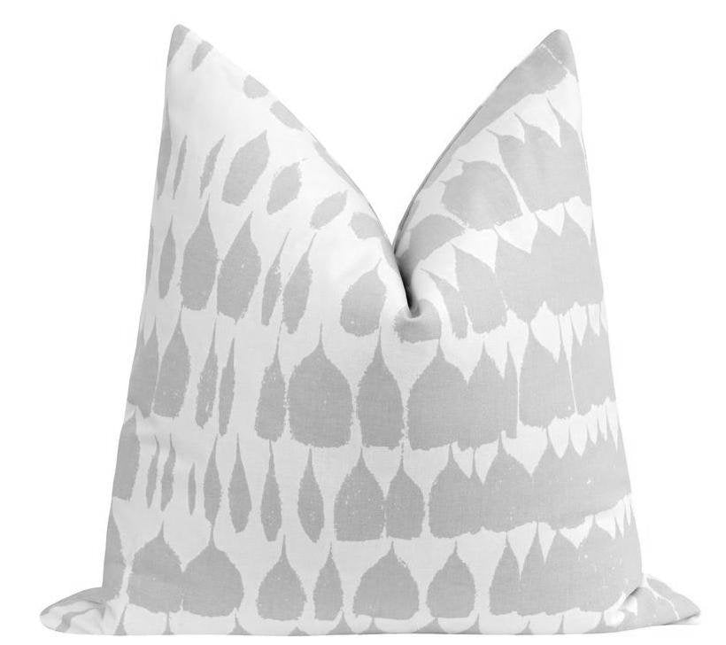 Queen of Spain Dove Grey Throw Pillow - Land of Pillows