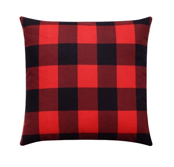 Red and Black Buffalo Check Plaid Pillow - Land of Pillows