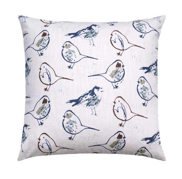 Regal Blue Chinoiserie Bird Toile Pillow - Land of Pillows
