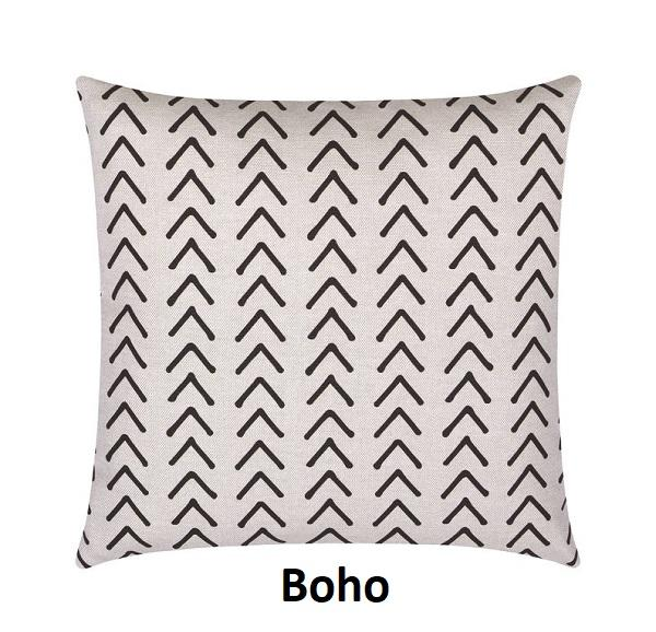 Reversible Cognac Leather Boho Throw Pillow - Land of Pillows