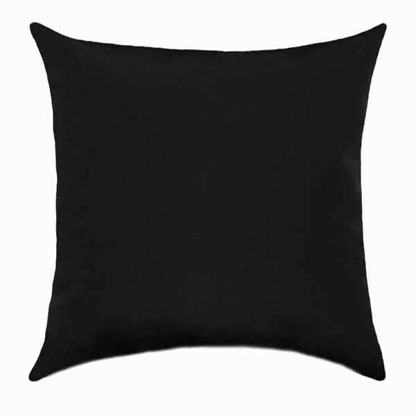 Rich Black Solid Indoor Throw Pillow - Land of Pillows