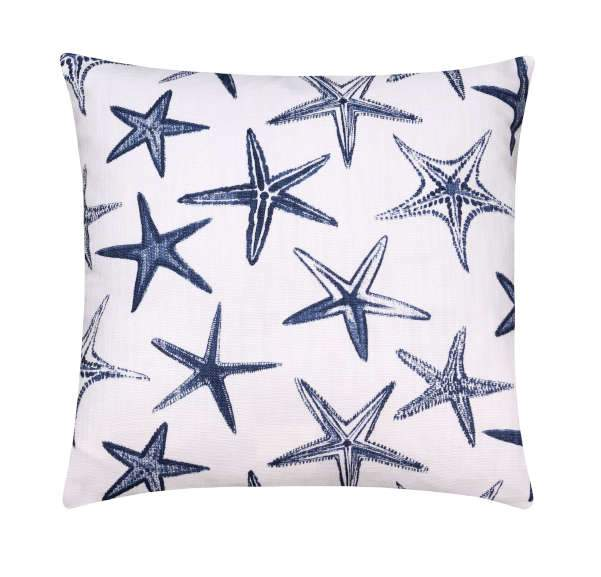 Scott Living Starfish Luxe Linen Vista Navy Blue Pillow - Land of Pillows