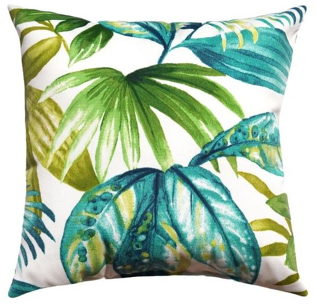 Seneca Caribe Outdoor Tropical Leaf Pillow - Land of Pillows