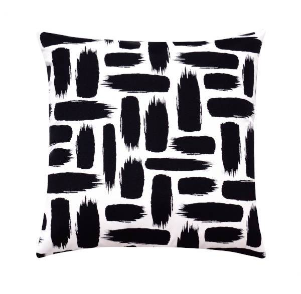 Shadow Black Brush Stroke Outdoor Pillow - Land of Pillows