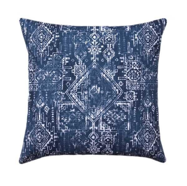 Sioux Vintage Tribal Indigo Blue Pillow - Land of Pillows