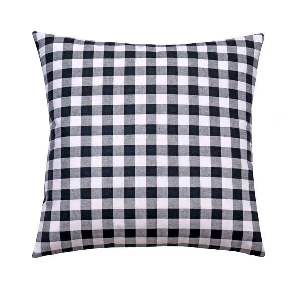 Small Check Black Plaid Pillow - Land of Pillows