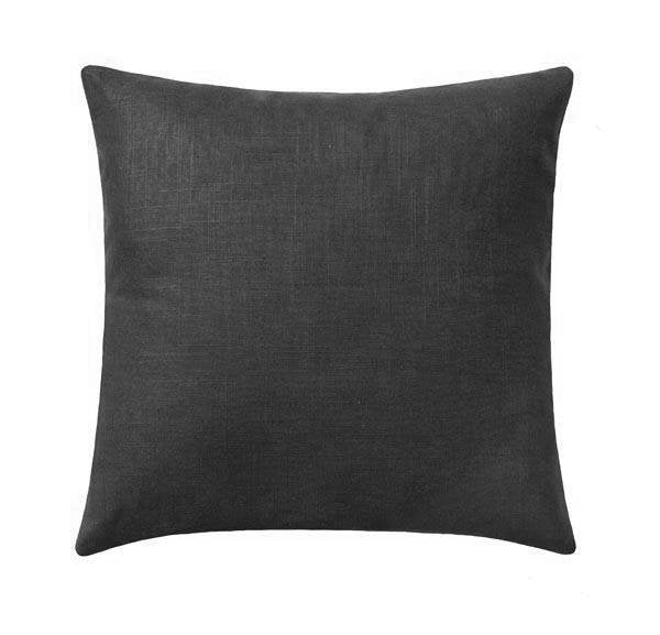 Solid Charcoal Grey Linen Pillow - Land of Pillows