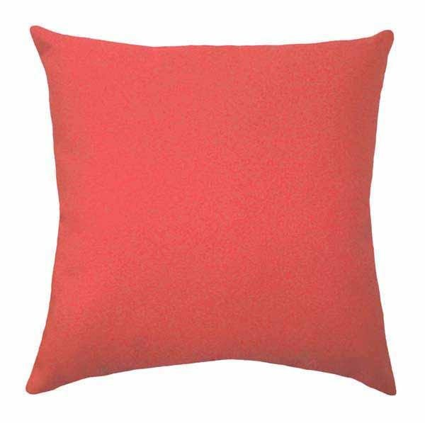 Solid Coral Pillow - Land of Pillows