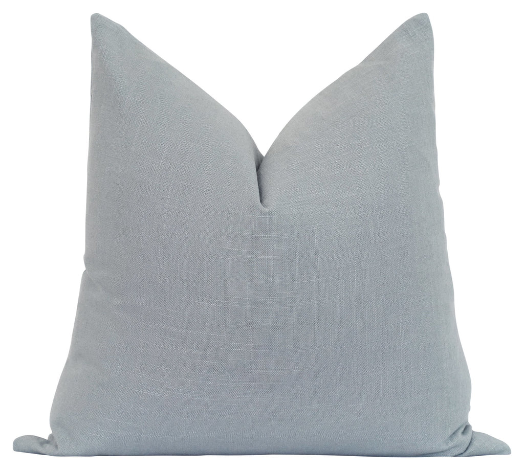 Solid Ice Blue Linen Pillow - Land of Pillows
